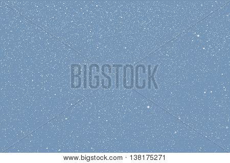 Vector white snow falling on blue background. Eps 10.