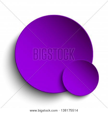 Purple circle banner on a white background.