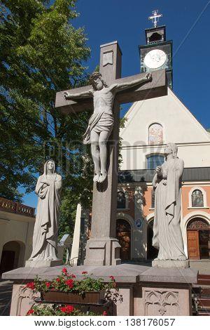 Mountain St. Anna Basilica Franciscan monastery and the International Shrine of St. Anna Poland