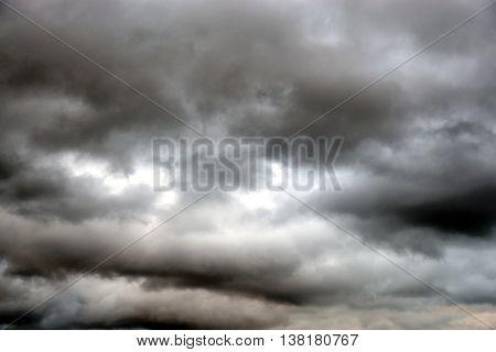 Dark cloud sky may be used as background.