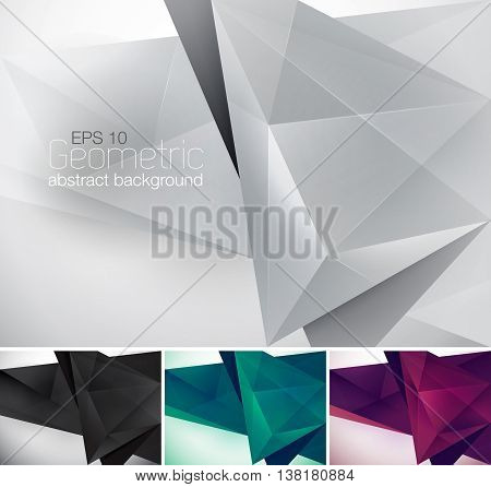 Geometric abstract background. Low poly vector background