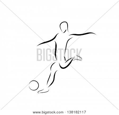 Soccer player icon easy all editable