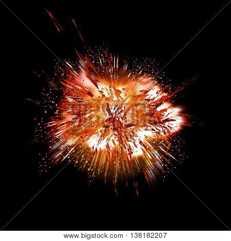 explode fire grunge background easy all editable