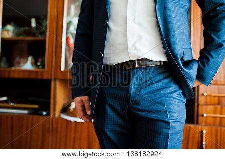 Groom Wear His Suit On The Wedding Day