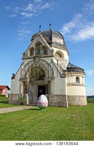 Eastern - rites catholic church of the annunciation Greek Catholic church in Pribic near Krasic Croatia
