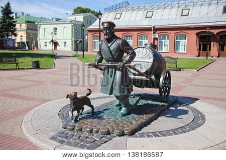St. Petersburg. A monument to the St. Petersburg water carrier near the museum