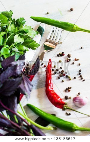 Cooking Concept With Fresh Vegies