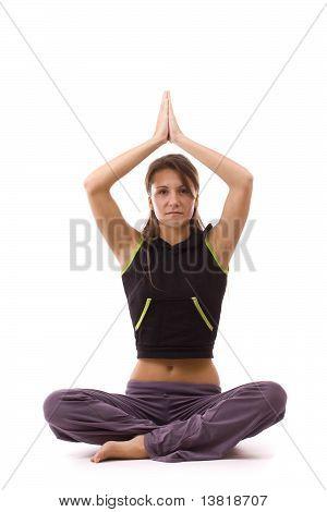 Frau tun Yoga