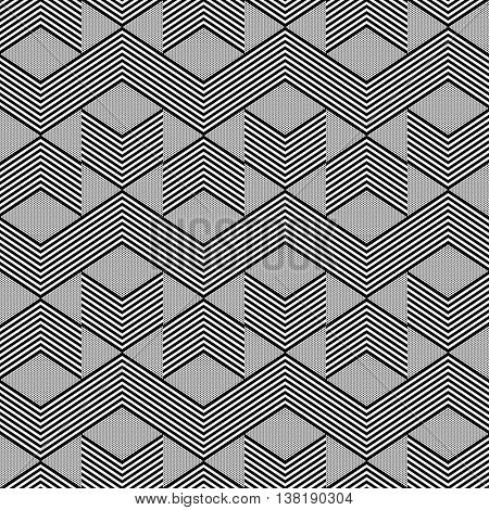 Seamless geometric zig zag pattern. Vector art.