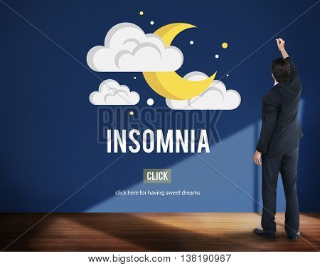 Insomnia Disorder Problem Illness Sleep Concept
