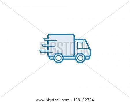 Delivery service icon. Vector illustration