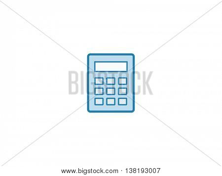 Calculator symbol icon. Vector illustration