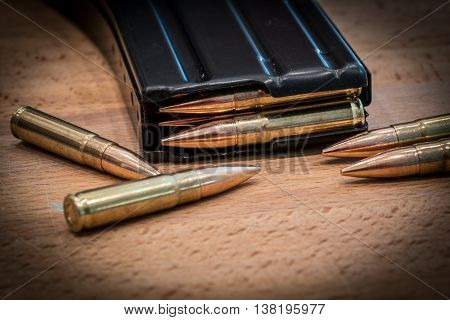 AR 15 Ammunition in Magazine 300 AAC