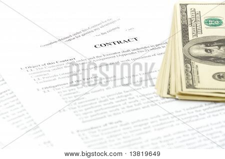 stack hundreds dollars on contract