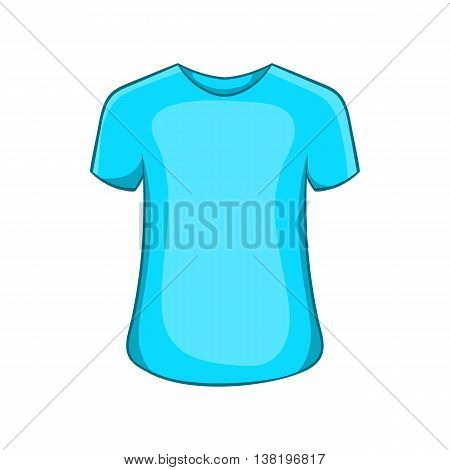 Mens summer t-shirt icon in cartoon style isolated on white background. Clothing symbol