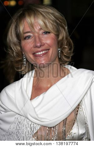 Emma Thompson at the Los Angeles premiere of 'Stranger Than Fiction' held at the Mann Village Theatre in Westwood, USA on October 30, 2006.