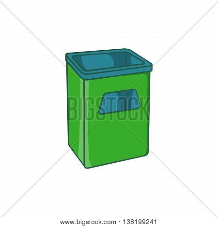 Street dustbin icon in cartoon style isolated on white background. Garbage symbol