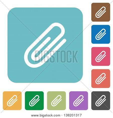 Flat attachment icons on rounded square color backgrounds.
