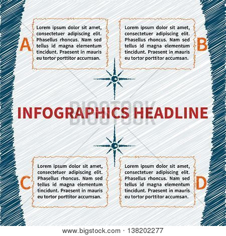 Fully vector infographics template. Infographic concept in sketchy style.