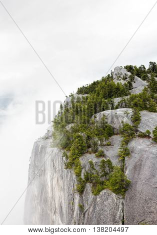 Second Peak on the stawamus Chief in Squamish British Columbia Canada