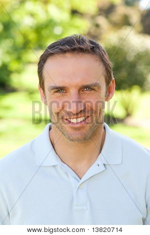 Man Smiling In The Park