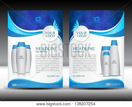 Blue business brochure flyer design layout template in A4 size ...