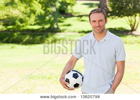 Handsome Man With A Ball