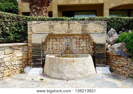 The recreation area at luxury hotel Crete Greece