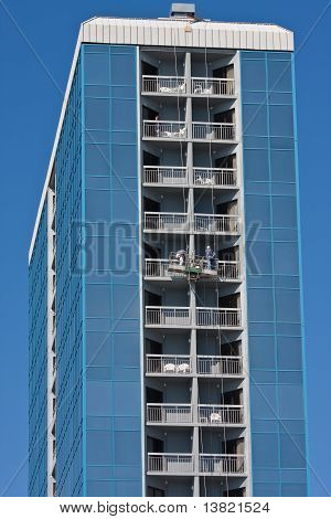 Window Washers Working