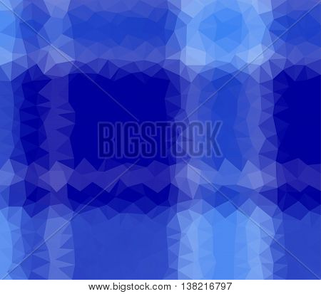 Low poly tartan vector with white and blue triangular polygons. Cell phone web or card background.