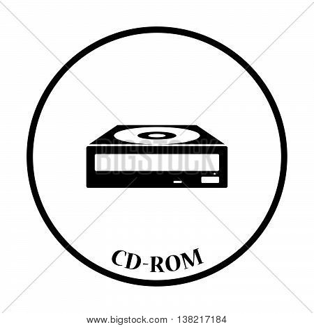 Cd-rom Icon Vector Illustration