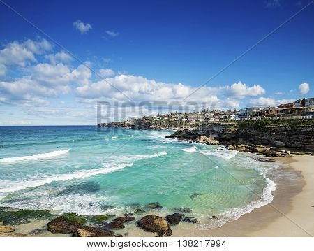 tamarama beach view near bondi on sydney australia coast