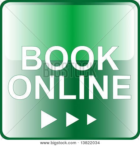 book online green Button Web icon