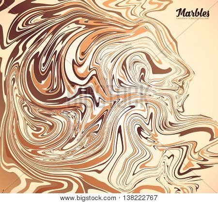 Cappuccino, coffee, chocolate and milk colors vector marble background
