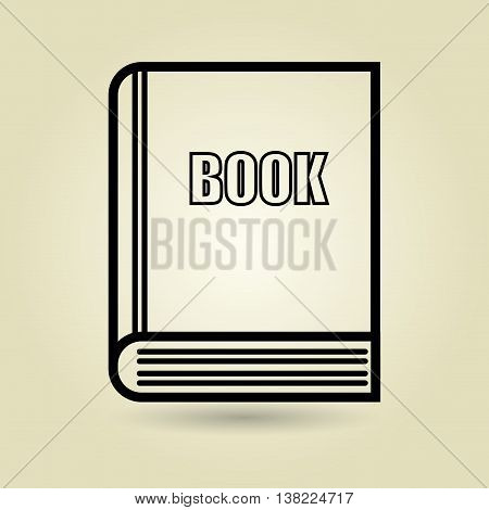 symbol of book isolated icon design, vector illustration  graphic
