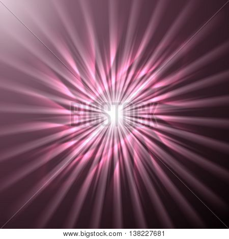 Bright space star in pink dark pink and plum colors