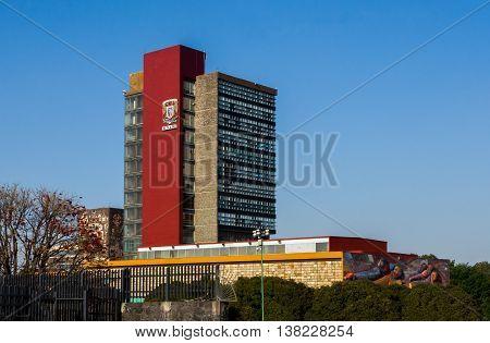 Rectoria Building Unam (universidad Nacional Autonoma De Mexico)