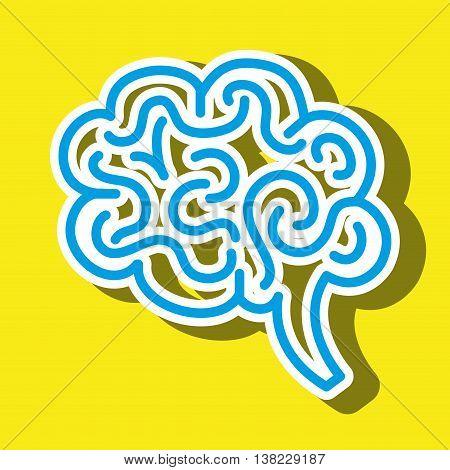 symbol of brain isolated icon design, vector illustration  graphic