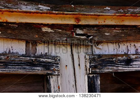 Weathered old doors on this old shed show the ravages of time