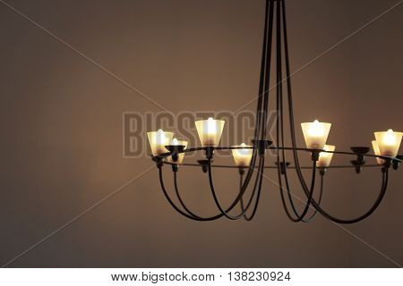 Chandelier Circle For House In Vintage Retro Tone