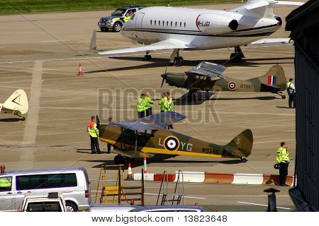 Classic war planes at Birmingham Airport