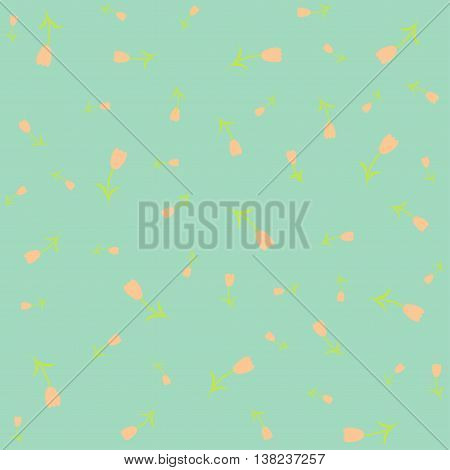 Floral cute pattern. Fine texture with flowers