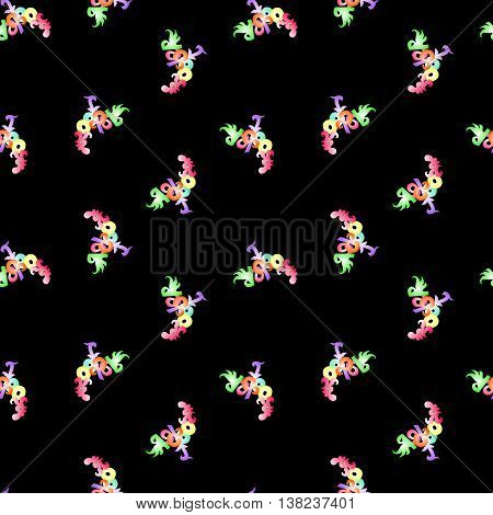 Seamless pattern with lettering