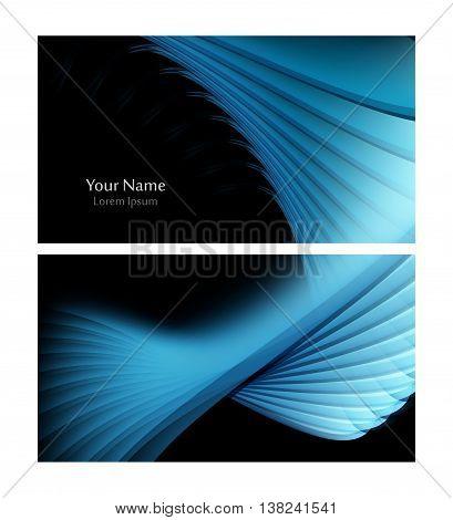 Vector business card template. Elements for design. Eps10 vector illustration