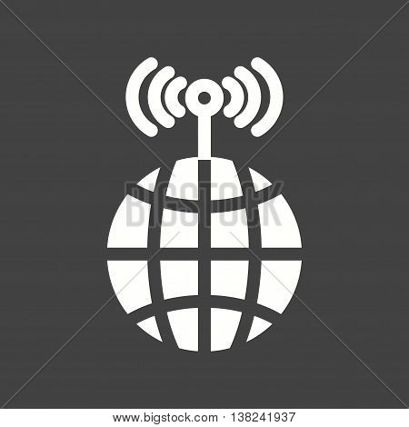 Tower, global, communication icon vector image.Can also be used for networking. Suitable for mobile apps, web apps and print media.