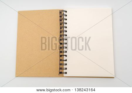 Blank Note book  mock up on white background