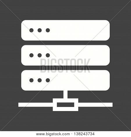 Server, data, sharing  icon vector image. Can also be used for networking. Suitable for use on web apps, mobile apps and print media.