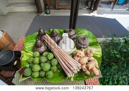 Thai herbals are seasoning and ingredient for almost of Thai food such as TOM YUM KUNG and can use of natural SPA as well