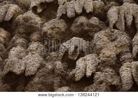 artificial creation of stalactite wall Wallenstein Garden