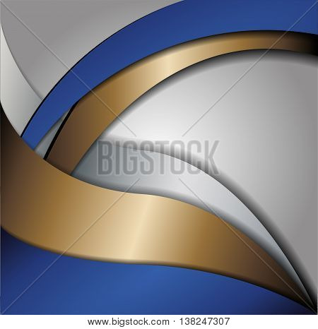 Blue background gray curve line on space shadow overlap and dimension modern texture pattern for text and message website design